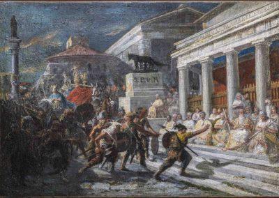 Brennus' Gaul pulling Marco Papirio's beardGIUSEPPE SCIUTI